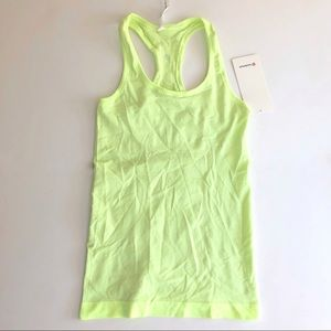 Lululemon Swiftly Racerback neon yellow-green NWT